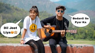 Bedardi Se Pyaar Ka | Jubin Nautiyal | Randomly Singing With Guitar In Front Of Cute Girl | Jhopdi K