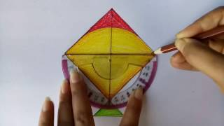 Haw to draw a kite step by step (very easy)