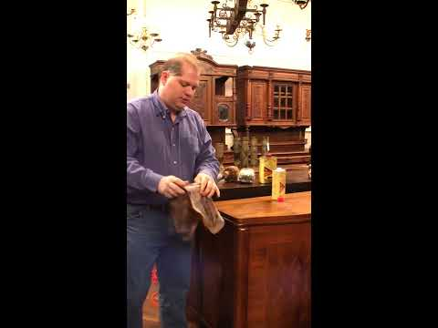How to Clean & Wax Antique Furniture - Part 1
