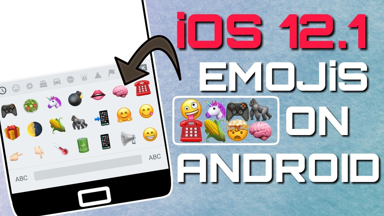 Add iOS 12 1 Emojis On Android | Hindi by IAmAndroidGuru