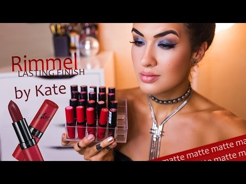 Rimmel Lasting Finish Lipstick by Kate Moss ♡ MATTE | РЕВЬЮ + свотчи на губах | ЧАСТЬ 3