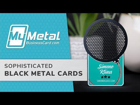 Black Metal Business Cards | My Metal Business Card