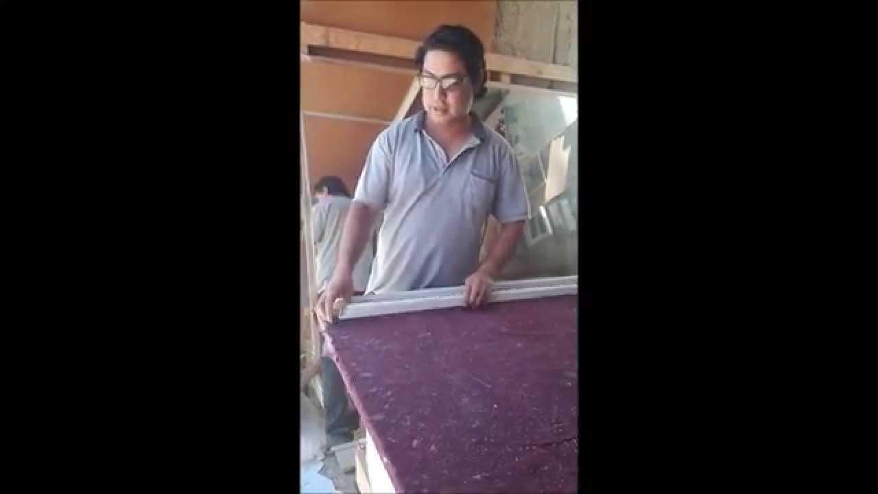 Armar Un espejo Con Marco De Aluminio - YouTube