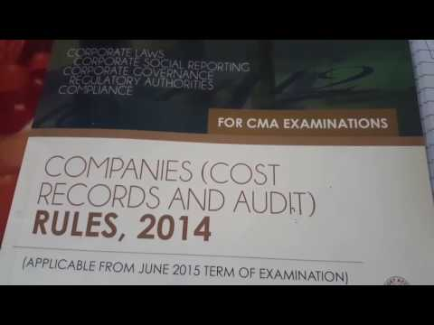 Companies (Cost Records And Audit Rules 2014)