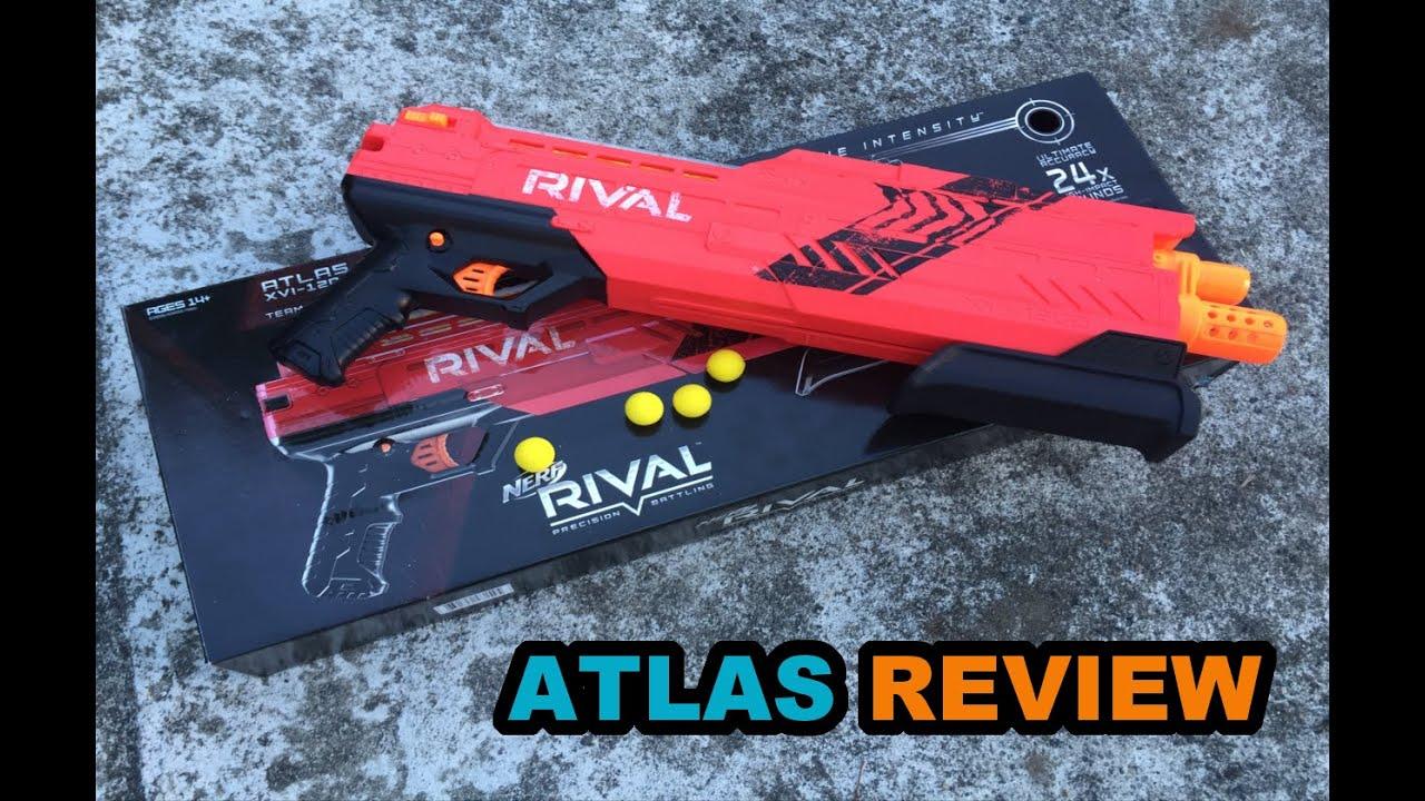 Download NERF RIVAL ATLAS XVI-1200 REVIEW - Pump-action Double Shot Rival Shotgun! | Walcom S7