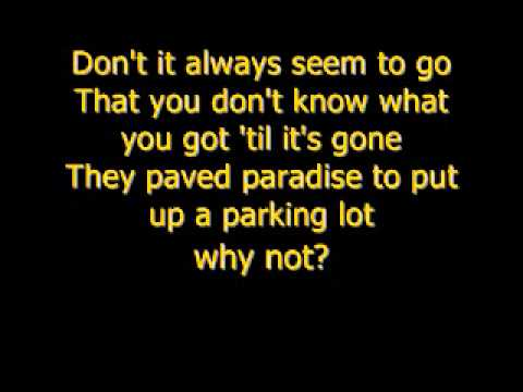 Counting Crows - Big Yellow Taxi (lyrics)