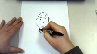 Creating An Easy Portrait of President George Washington