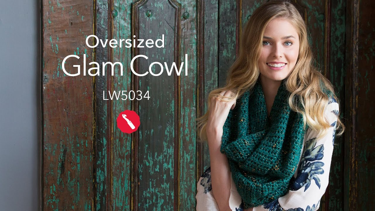Oversized Glam Cowl Free Crochet Pattern in Red Heart Boutique Gleam ...