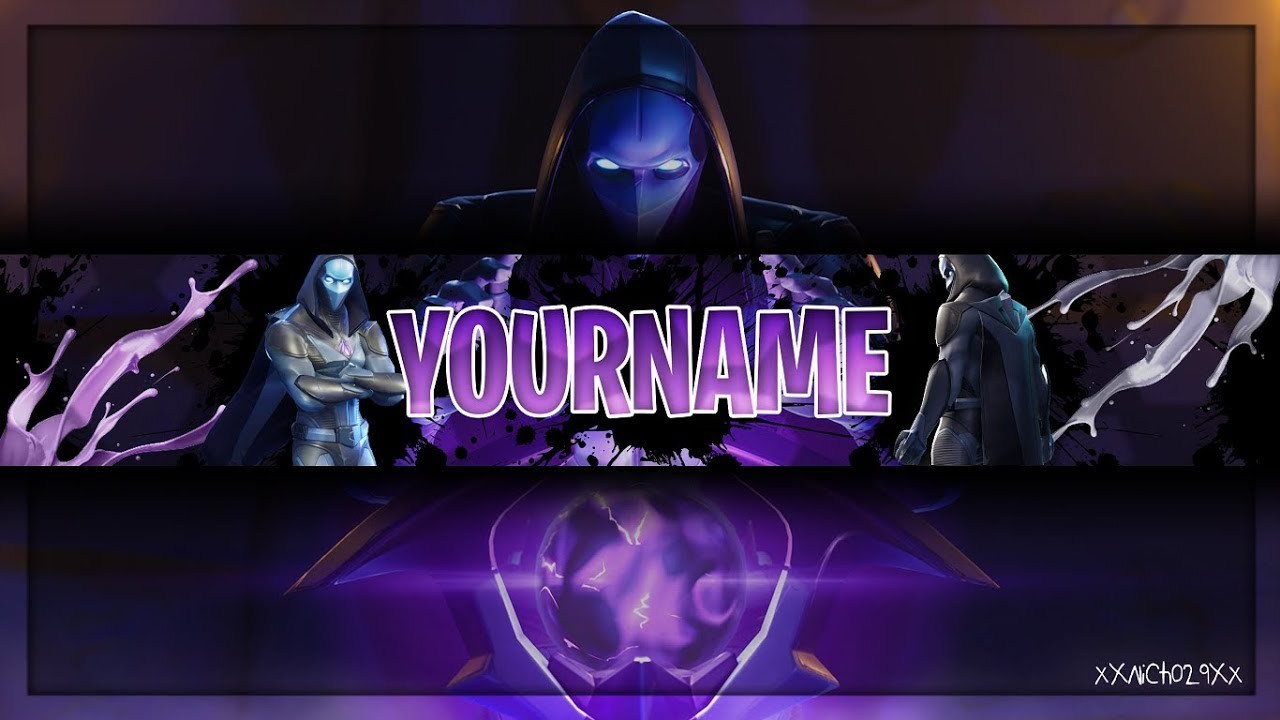 Fortnite Youtube Banner Template | Omen Channel Art | Photoshop CS6