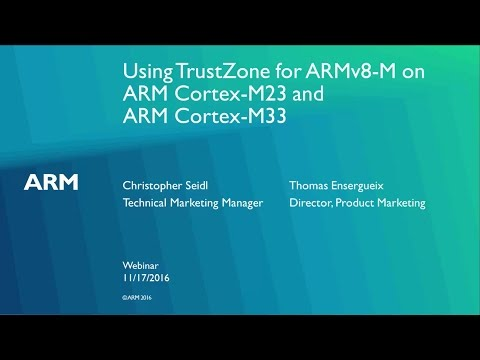 ARM recently announced the first two processors using the ARMv8-M architecture, ARM Cortex-M23 and Cortex-M33. ARM TrustZone for ARMv8-M adds security features to these cores that allow applications and services to operate securely while safeguarding the secure resources from being misused, corrupted or inspected by intruders. This webinar recording will explain how to program secure and non-secure domains on a processor with TrustZone.