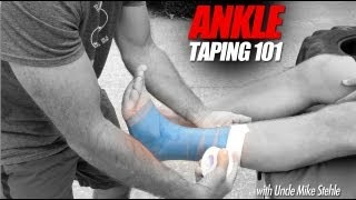 how to tape ankles for athletes best ankle taping video mike stehle