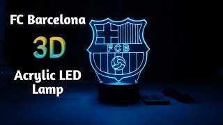 Fc barcelona 3d acrylic led lamp gift for #fcbarcelona fans please visit and like our facebook page more lamps designs: http://facebook.com/customized...