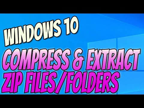 compress-files-into-a-zip-folder-and-extract-zipped-files-windows-10-tutorial-|-reduce-file-sizes
