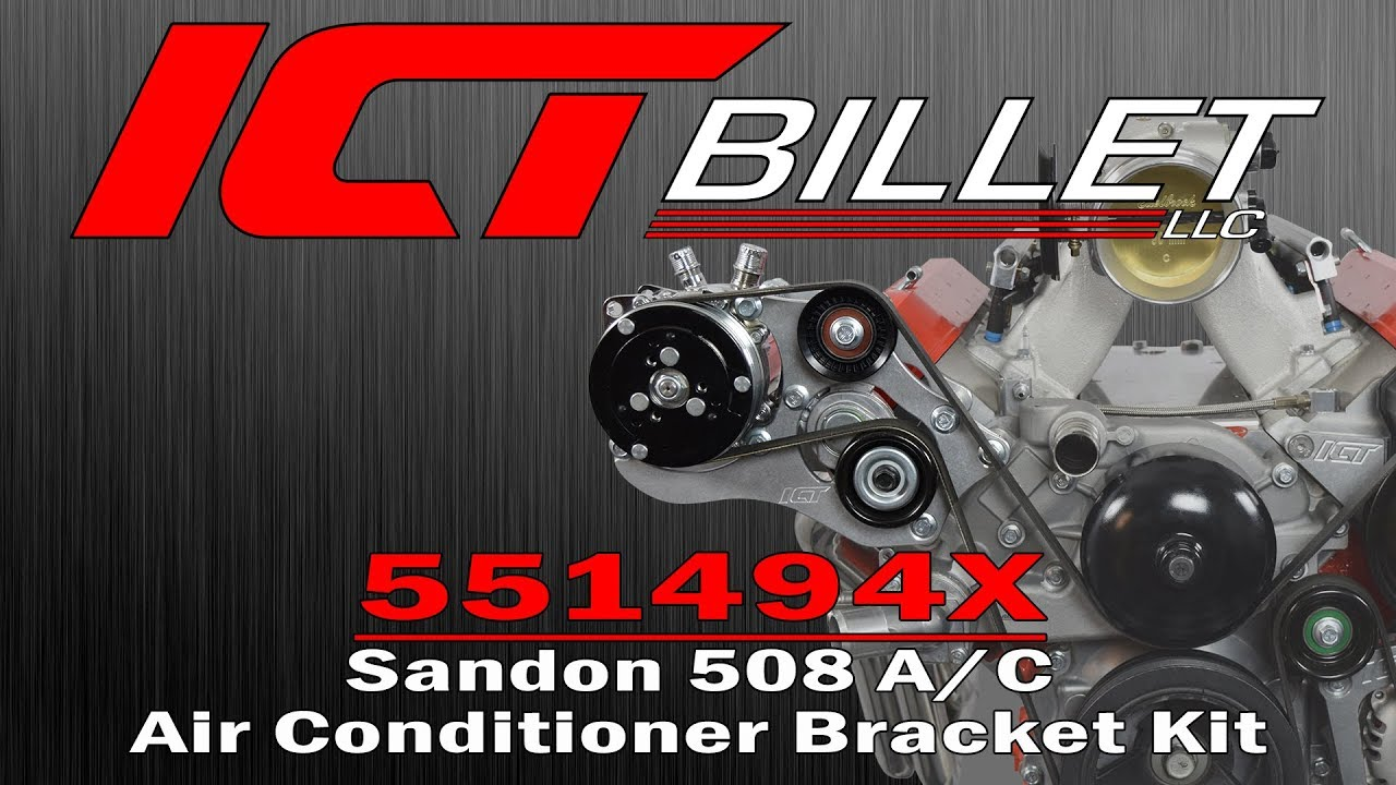 ICTBillet 551494X Sanden 508 A/C Air Conditioner Bracket Kit Installation  Instructions