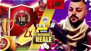 🔴 LIVE FORTNITE - FIFA 18 APRO I PACK TOP 100 CON DI GIANNI PRO PLAYER !!!