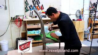 HOW TO REUPHOLSTER EASILY USING A REXEL ST-3 LIFT TABLE - ALO Upholstery