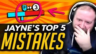 Overwatch | TOP 5 MISTAKES JAYNE Wants You To Stop!