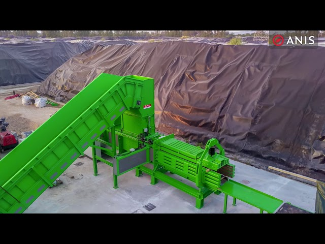High Load Shear Baler for RDF commissioning