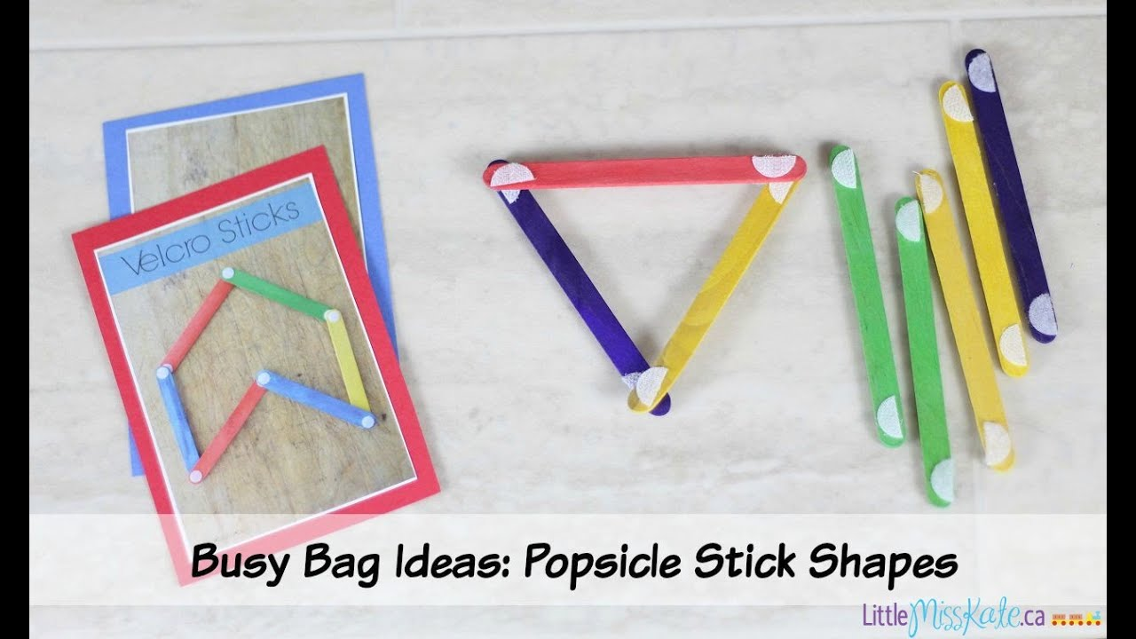 Busy Bag Ideas For Preschoolers Popsicle Stick Velcro