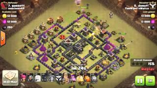 Clash of Clans COC TH9 Valknado 3 Star War Attack Donut April 24 2016