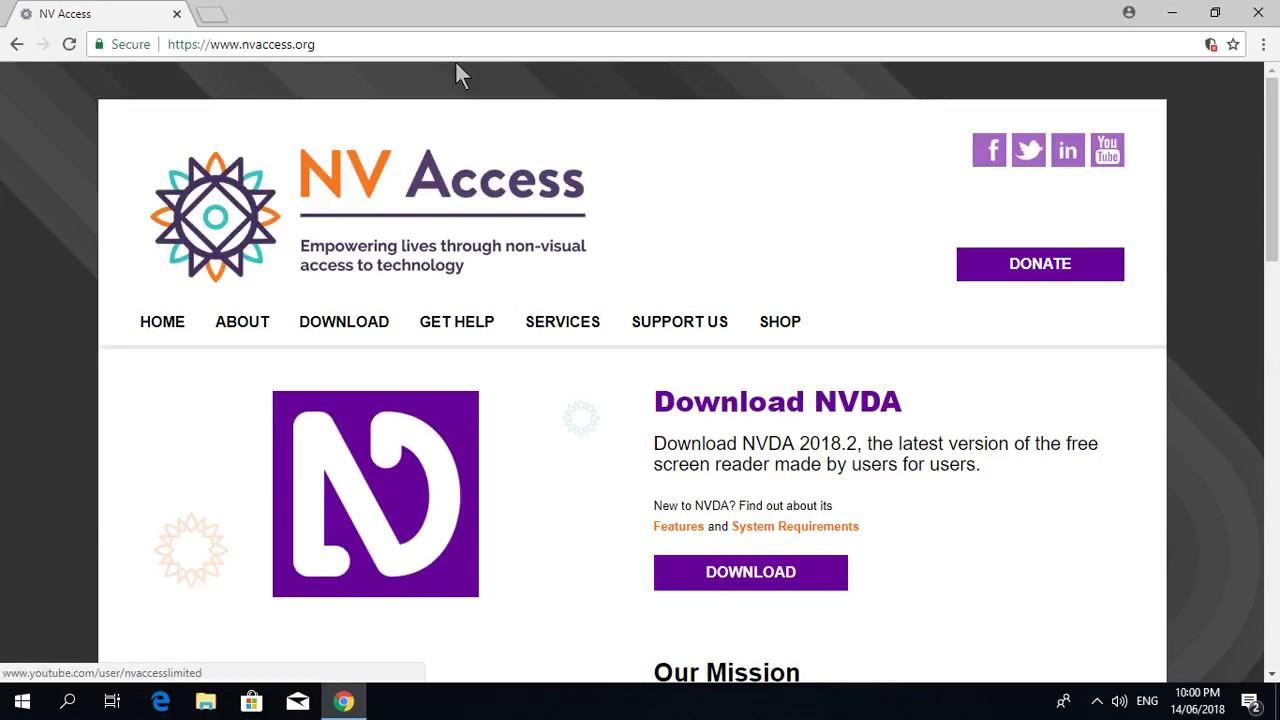 how to download and install Nvda screen reader in Hindi