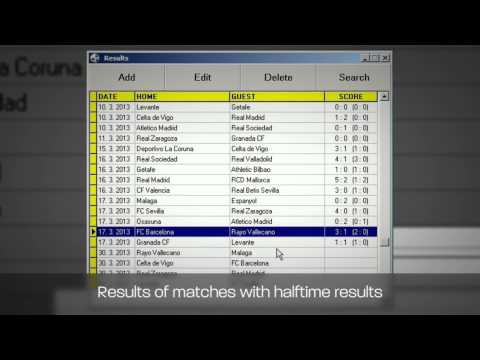 Football betting software