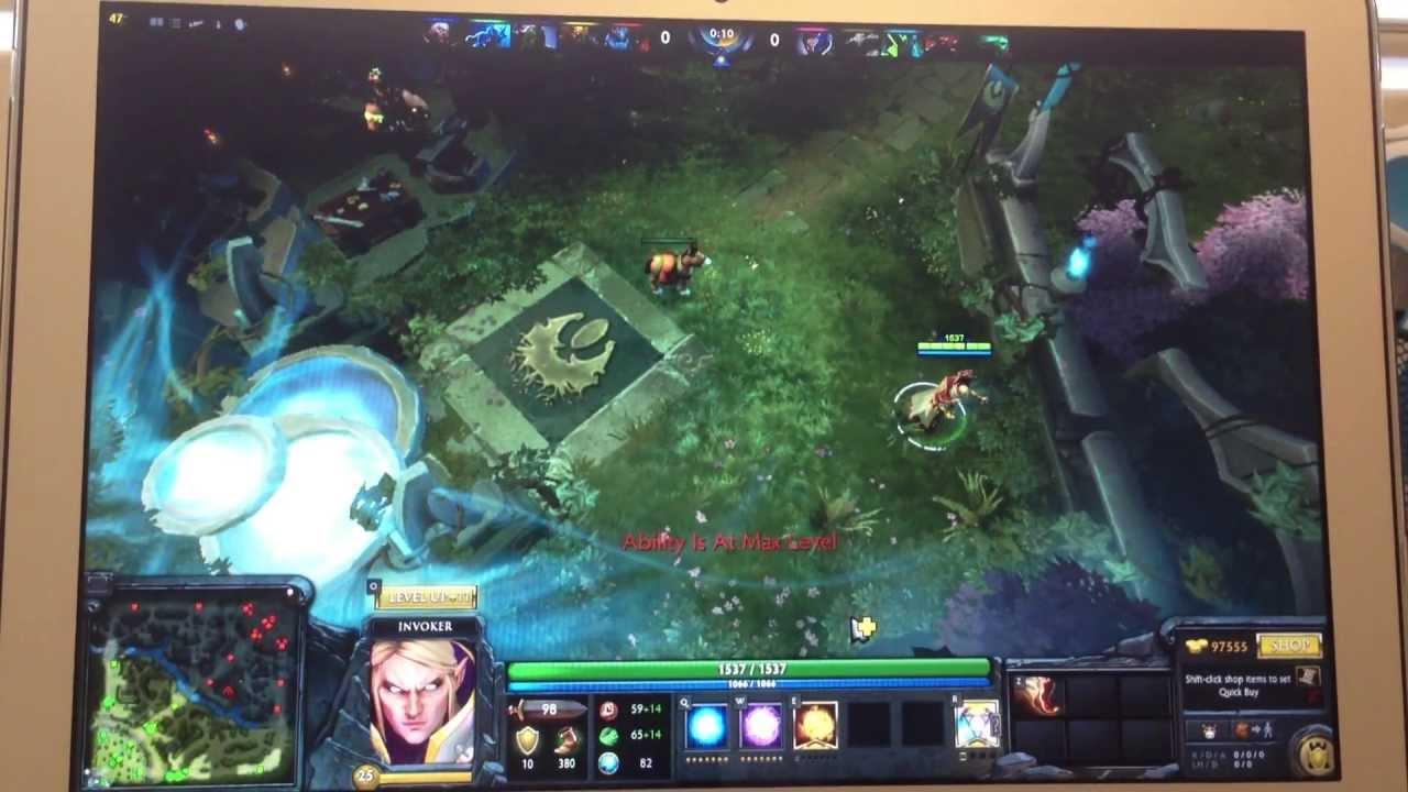macbook air mid 2013 intel haswell hd 5000 dota 2 gaming test
