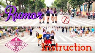 [KPOP IN PUBLIC CHALLENGE] PRODUCE 48 (프로듀스 48)- RUMOR (루머) + Instruction (인스트럭션) Dance Cover By CAC - Stafaband