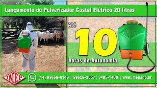 Pulverizador Costal Elétrico IMEP PCI-E20  (Bateria com até 10 horas de Autonomia)