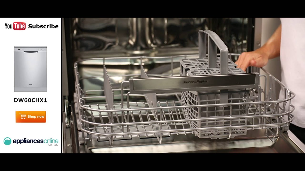 Fisher & Paykel Dishwasher DW60CHX1 reviewed by expert - Appliances Online - YouTube