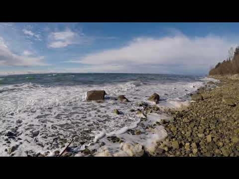 Ocean waves, South Surrey, BC