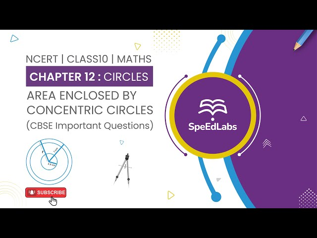 NCERT Class10 Maths Chapter 12:Circles|Area enclosed by concentric circles| CBSE Important Questions
