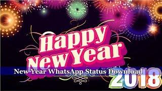 Happy New Year 2018 WhatsApp Status Download New Edition