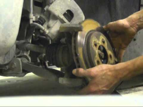 2000 Dodge Caravan Brake Caliper Removal For Pad And Rotor Replacement
