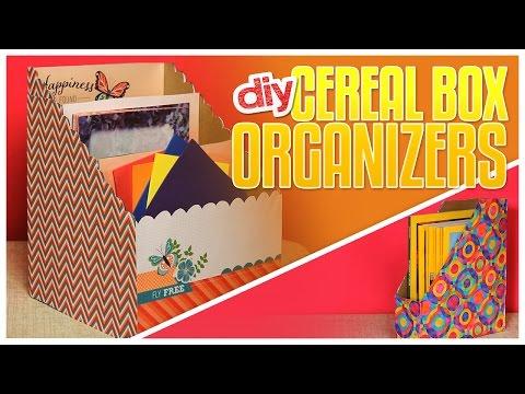 3 DIY Cereal Box Organizers