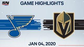 NHL Highlights   Blues vs Golden Knights - Jan. 04, 2020