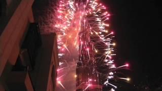 Dubai New Year's Eve 2012 - Burj Khalifa Fireworks