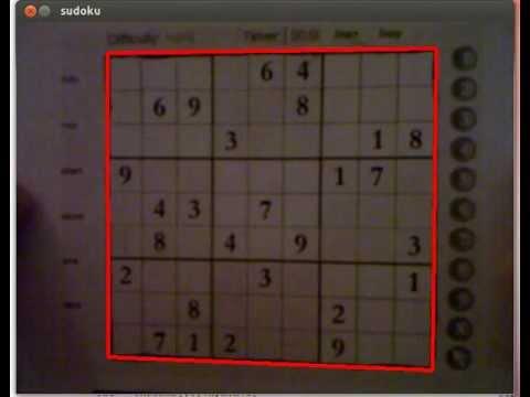 Sudoku Solver - OpenCV - YouTube