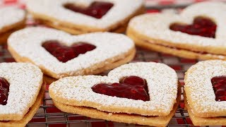 Linzer Cookies Recipe Demonstration - Joyofbaking.com