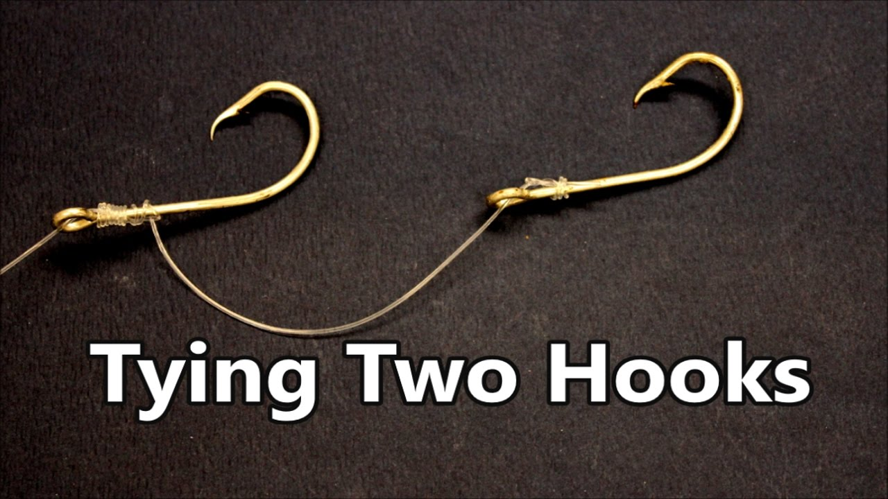 How to tie two Fishing Hooks to a Fishing line