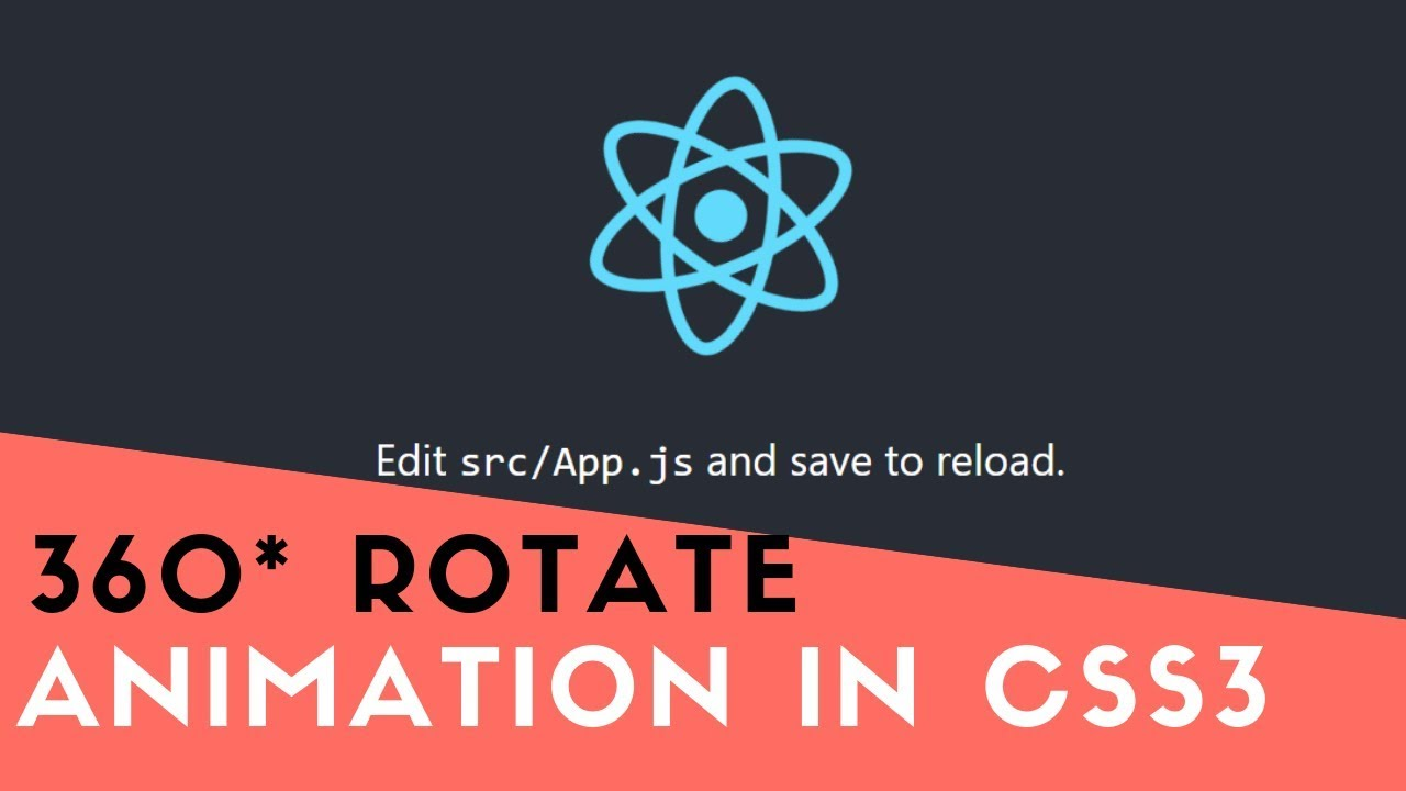 How to Code Like ReactJS Logo 360deg Rotate Animation in HTML and CSS on  Any Logo, Images and Text
