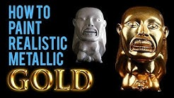 How to Paint Realistic Metallic Gold