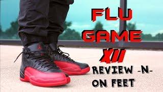 2016 jordan flu game 12 xii review on feet   jord watch giveaway