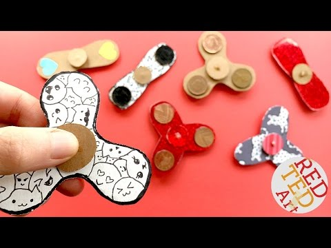 Thumbnail: Easy Fidget Spinner WITHOUT Bearings TEMPLATE - How to make a Tri Fidget Spinner DIY
