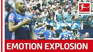 Greatest fan celebration in super slow motion - after unbelievable free kick goal against dortmund