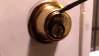 Removing Schlage Double cylinder (aka double keyed) Deadbolt Cover
