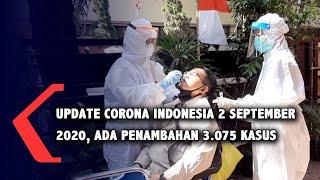 Update Corona Indonesia 2 September 2020, Kasus Positif Tembus 180.646