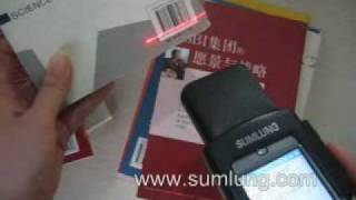 6-Wireless Mobile Barcode Scanner MS30 scan barcode on books.wmv