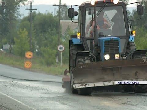 Дорожники завершают работы на участке трассы Красноярск-Железногорск