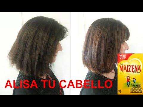 Tratamiento a base de maizena para alisar el cabello. ¡Sorprendentes resultados!